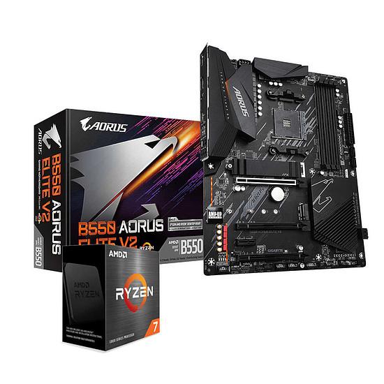 Kit upgrade PC AMD Ryzen 7 5800X + Aorus B550 ELITE V2