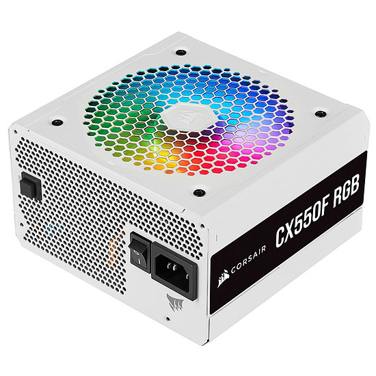 Alimentation PC Corsair CX550F RGB - Bronze - Blanc