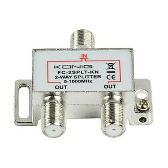 Câble Satellite Répartiteur coaxial 2 voies Type Femelle