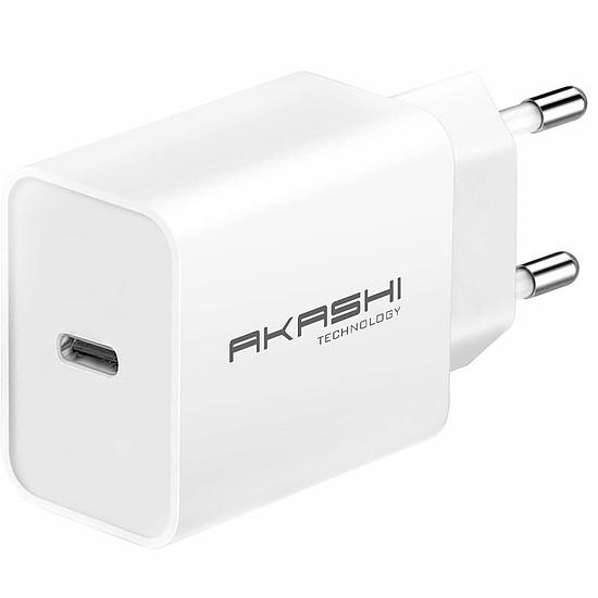 Chargeur Akashi Chargeur secteur intelligent 3A USB-C 20W