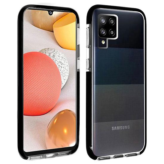 Coque et housse Akashi Coque Ultra Renforcée (transparent) avec bordures noires - Samsung Galaxy A42 5G