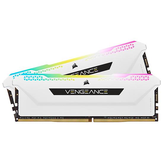 Mémoire Corsair Vengeance RGB Pro SL Blanche - 2 x 8 Go (16 Go) - DDR4 3200 MHz - CL16