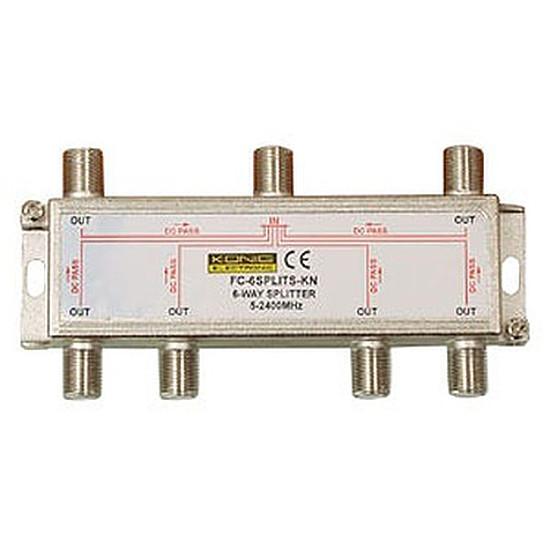 Câble Satellite Répartiteur coaxial 6 voies Type Femelle