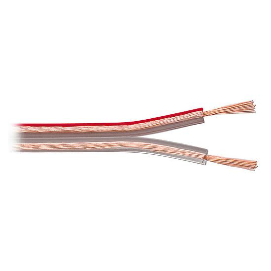 Câble d'enceintes Câble Haut-Parleur 0.75 mm² en cuivre OFC - rouleau de 10 m