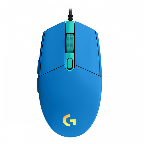 Souris PC Logitech G203 LightSync - Bleu