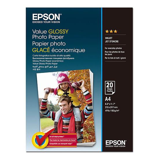 Papier imprimante Epson Value Glossy A4 (C13S400035)