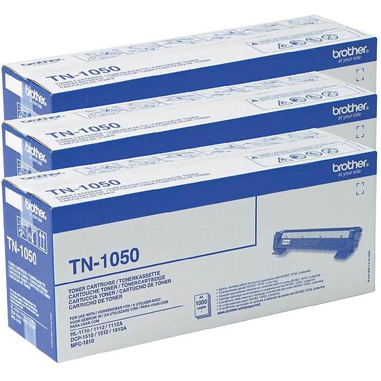 Toner Brother TN-1050 x 3 Noir