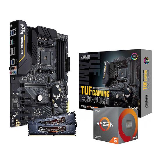 Kit upgrade PC AMD Ryzen 5 3600 + Asus TUF B450 PLUS II + G.Skill 16 Go 3200 MHz