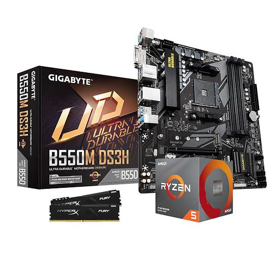 Kit upgrade PC AMD Ryzen 5 3600 - Gigabyte B550 - RAM 16 Go