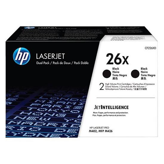 Toner HP LaserJet 26X Noir Pack de 2 CF226XD