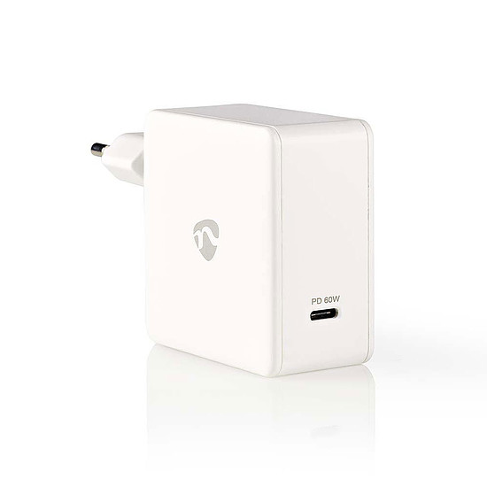 Chargeur Nedis Chargeur mural USB-C 60W - Blanc