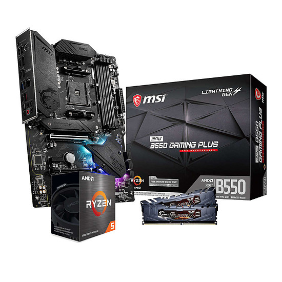 Kit upgrade PC AMD Ryzen 5 5600X - MSI B550 - RAM 16Go 3200MHz