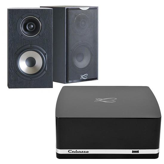 Mini-chaine Cabasse Stream AMP 100 + Cabasse Antigua MC170 Noir Ebene