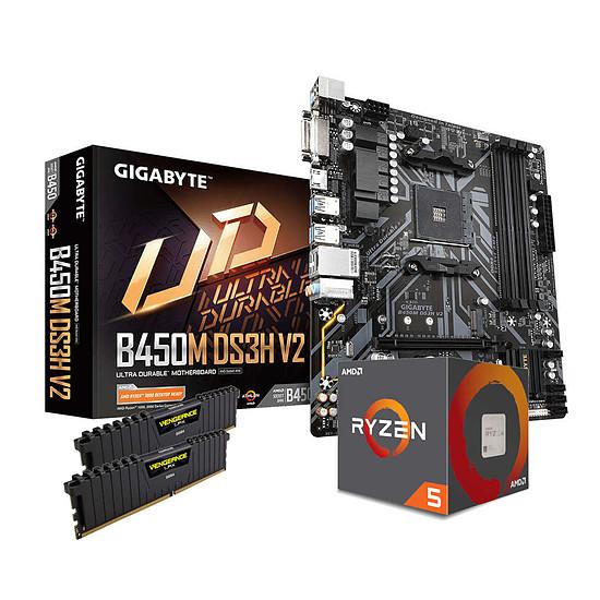 Kit upgrade PC AMD Ryzen 5 2600 - Gigabyte B450 - RAM 16 Go