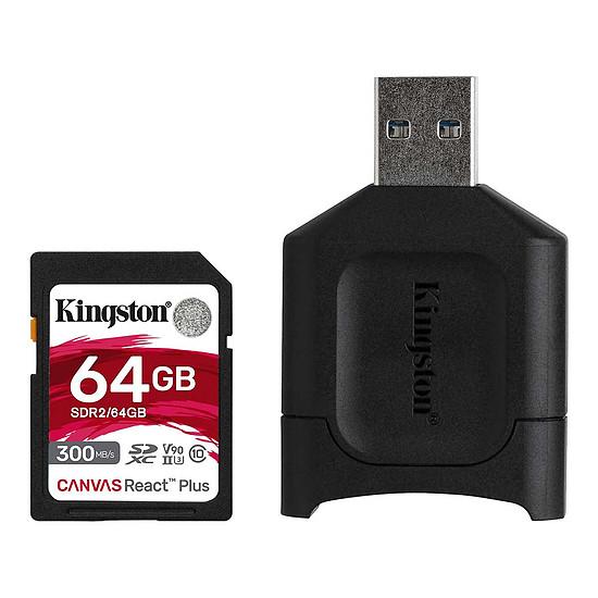 Carte mémoire Kingston Canvas React Plus SDCR2/64GB