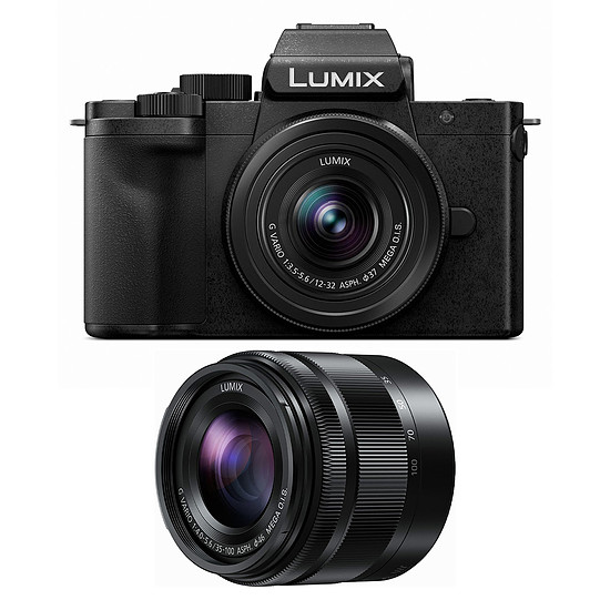 Appareil photo hybride Panasonic DC-G100W Noir + Leica 12-32 mm