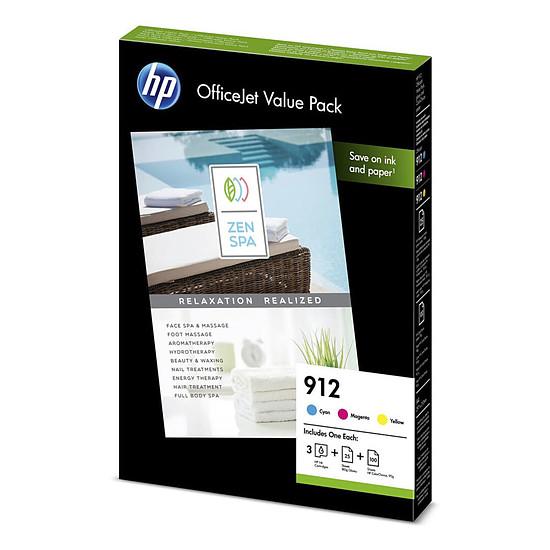 Cartouche d'encre HP 912 Office Cyan, Magenta, Jaune 6JR41AE