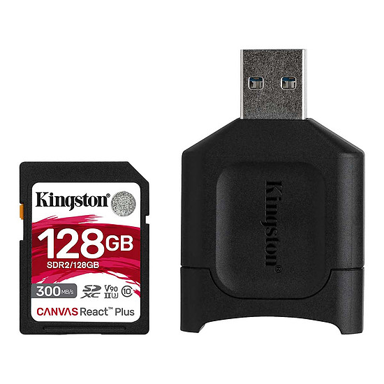 Carte mémoire Kingston Canvas React Plus SDCR2/128GB