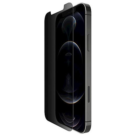 Protection d'écran Belkin Protection d'écran antimicrobienne Tempered Glass Privacy pour iPhone 12 / iPhone 12 Pro