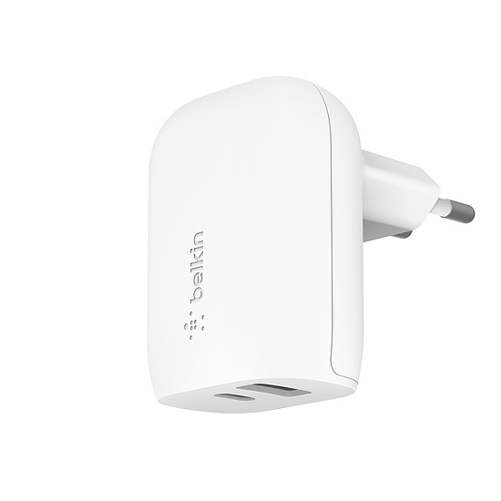 Chargeur Belkin Boost Charge Chargeur secteur USB-C PD + USB-A (32 W) (Blanc)