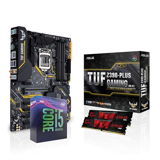 Kit upgrade PC Intel Core i5 9600K + Asus TUF Z390-PLUS GAMING Wi-Fi + G.Skill 16 Go Go DDR4 3000 MHz
