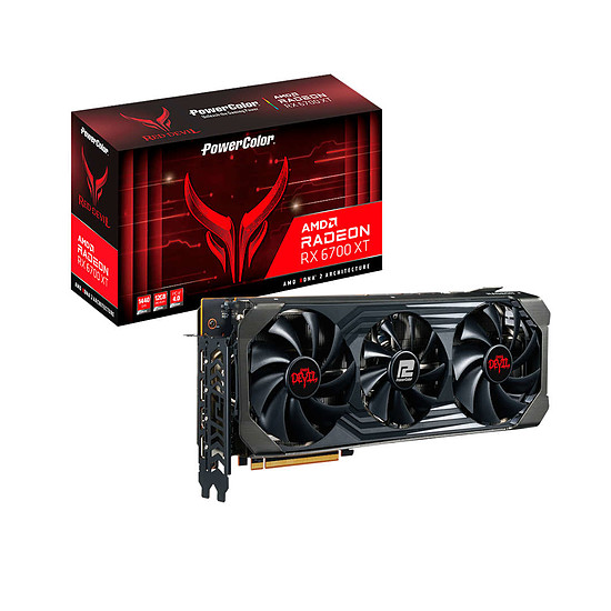 Carte graphique PowerColor Radeon 6700 XT Red Devil