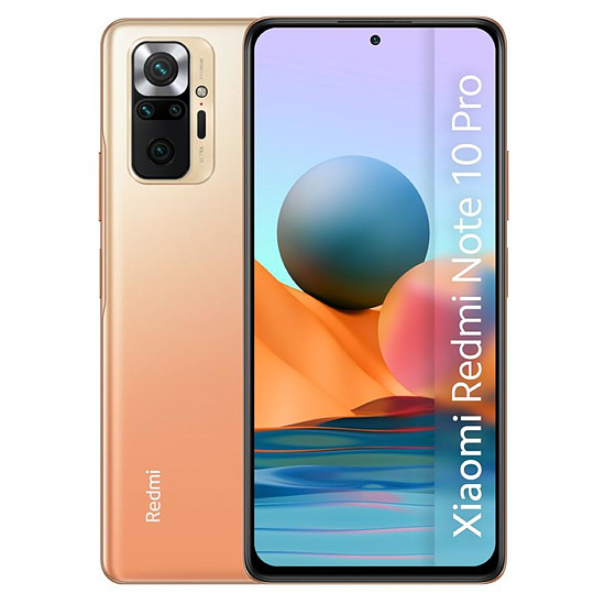 Smartphone et téléphone mobile Xiaomi Redmi Note 10 Pro (bronze) - 128 Go - 8 Go
