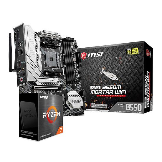 Kit upgrade PC AMD Ryzen 7 5800X + MSI B550M Mortar Wi-Fi