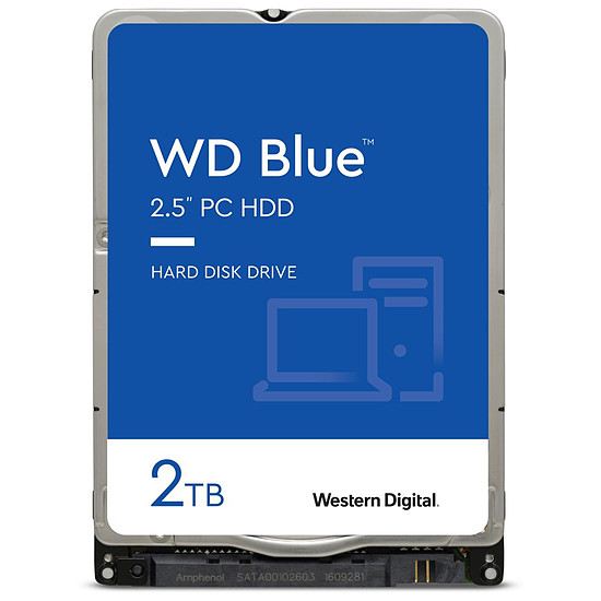 Disque dur interne Western Digital WD Blue Mobile - 2 To - 128 Mo