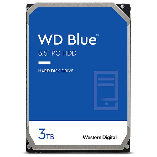 Disque dur interne Western Digital WD Blue - 3 To - 256 Mo