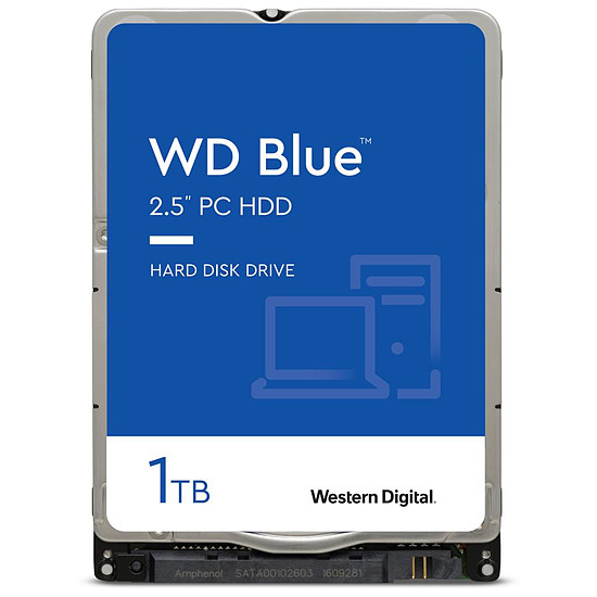 Disque dur interne Western Digital WD Blue Mobile - 1 To - 128 Mo