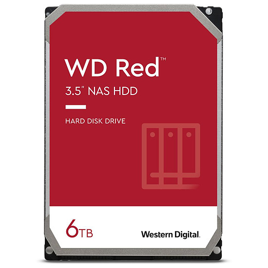 Disque dur interne Western Digital WD Red - 2 x 6 To (12 To) - 256 Mo