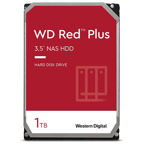 Disque dur interne Western Digital WD Red Plus - 1 To - 64 Mo