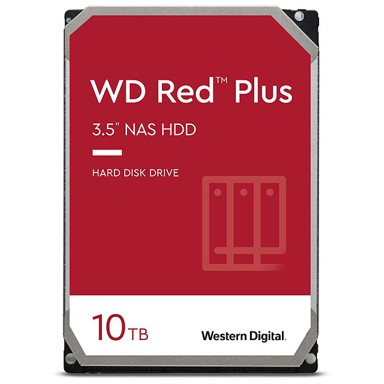 Disque dur interne Western Digital WD Red Plus -  2 x 10 To (20 To) - 256 Mo