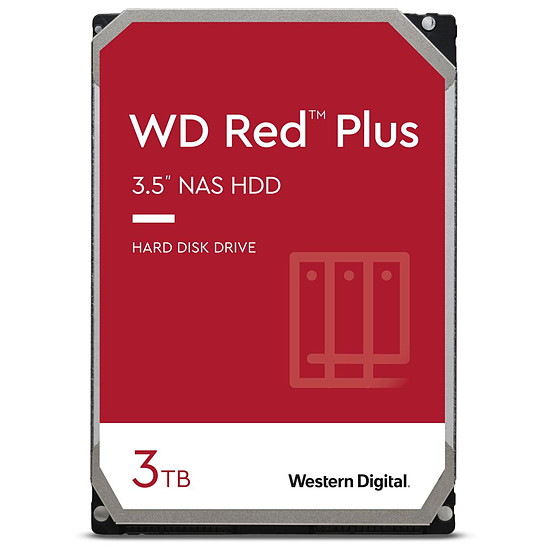 Disque dur interne Western Digital WD Red Plus - 3 To - 128 Mo