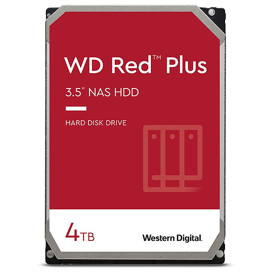 Disque dur interne Western Digital WD Red Plus - 4 To - 128 Mo