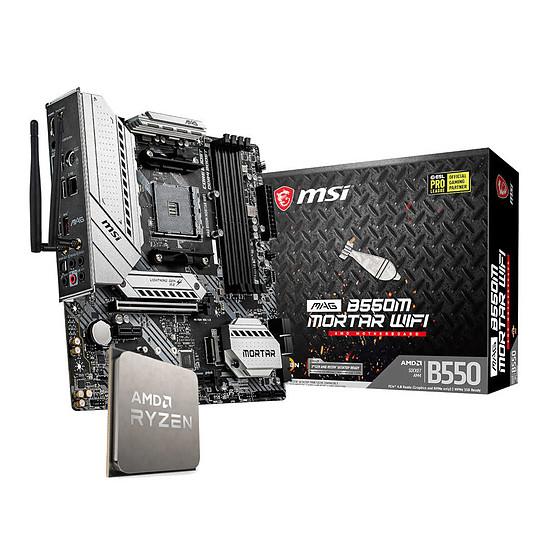 Kit upgrade PC AMD Ryzen 5 5600X + MSI B550M Mortar Wi-Fi