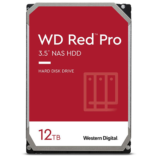 Disque dur interne Western Digital WD Red Pro - 2 x 12 To (24 To) - 256 Mo