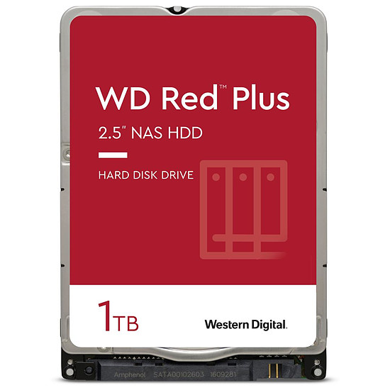 Disque dur interne Western Digital WD Red Plus Mobile - 1 To - 16 Mo