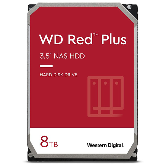 Disque dur interne Western Digital WD Red Plus - 8 To - 256 Mo