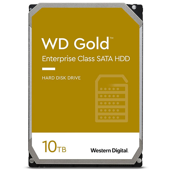Disque dur interne Western Digital WD Gold - 10 To - 256 Mo