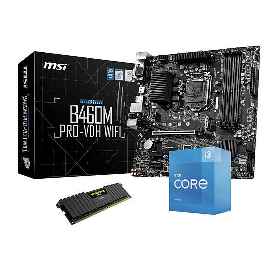 Kit upgrade PC Intel Core i3 10105 - MSI B460 - RAM 8Go 2666 Mhz