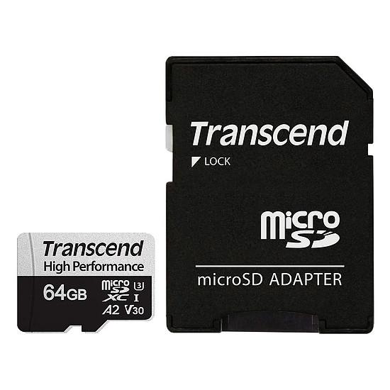 Carte mémoire Transcend MicroSDXC 330S 64 Go + Adaptateur SD