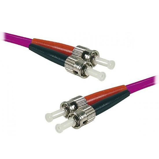 Câble fibre Optique Jarretière optique duplex multimode 2mm OM4 ST-UPC/SC-UPC - 1 m