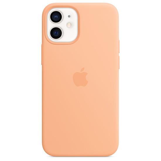 Coque et housse Apple Coque en silicone avec MagSafe pour iPhone 12 mini - Orange (Melon)