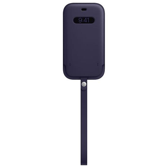 Coque et housse Apple Housse en cuir avec MagSafe pour iPhone 12 / 12 Pro - Violet profond