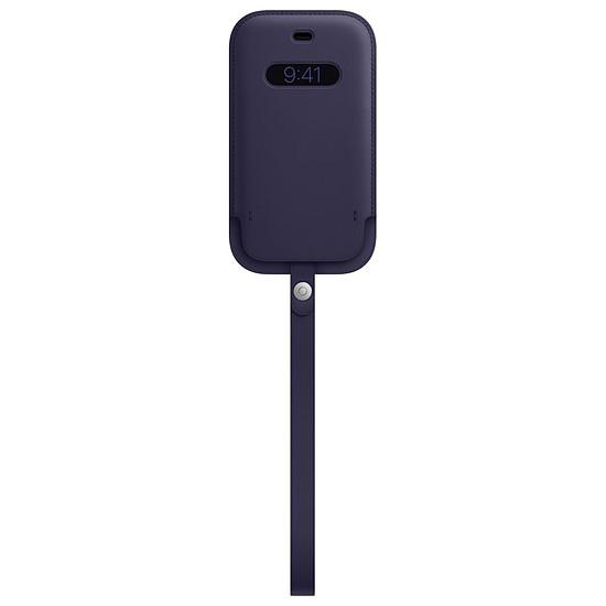 Coque et housse Apple Housse en cuir avec MagSafe pour iPhone 12 mini - Violet profond