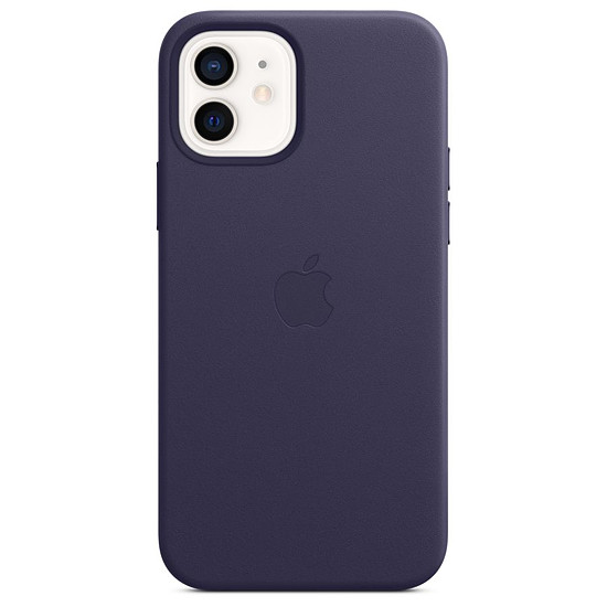 Coque et housse Apple Coque en cuir avec MagSafe pour iPhone 12 / 12 Pro - Violet profond
