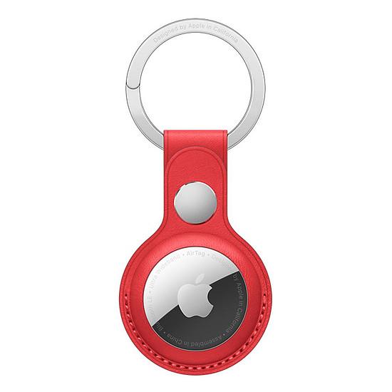 Accessoires montre et bracelet Apple Porte-clés en cuir AirTag - Rouge (PRODUCT)RED