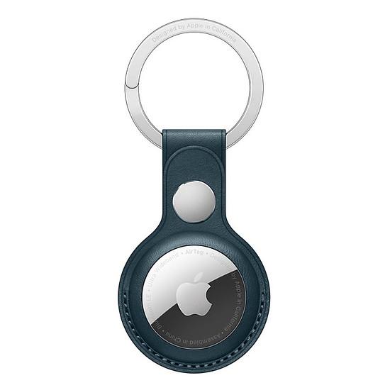 Accessoires montre et bracelet Apple Porte-clés en cuir AirTag - Bleu Baltique